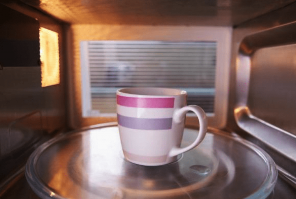 microwaving in a cup