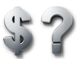 money and question mark sign