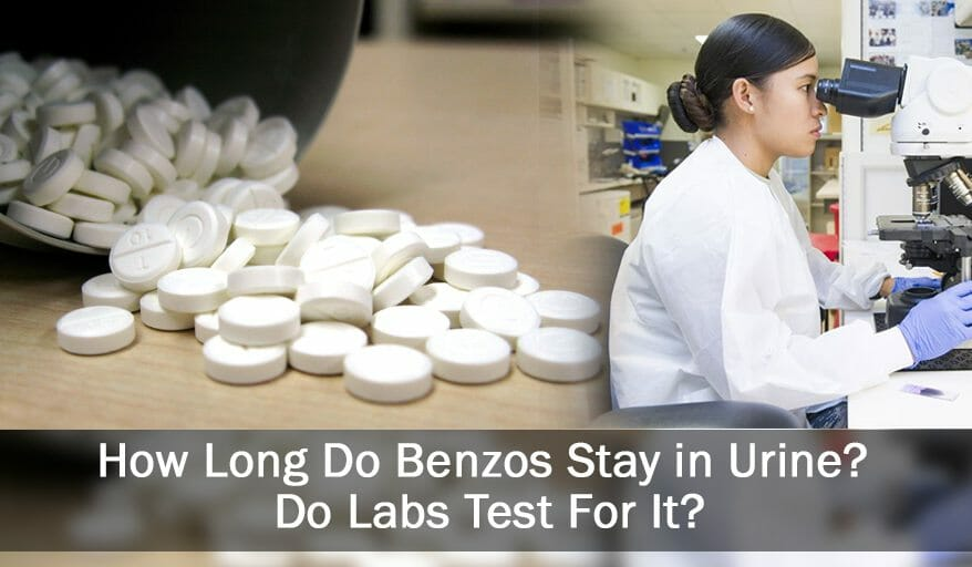 Benzos and woman in lab