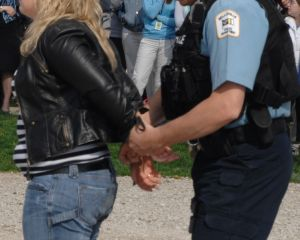 police arrested a woman