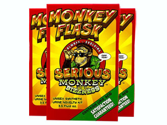 Three Front Monkey Flask by Serious Monkey Bizzness Product