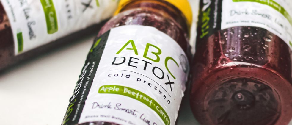 Close up pictures of detox drink